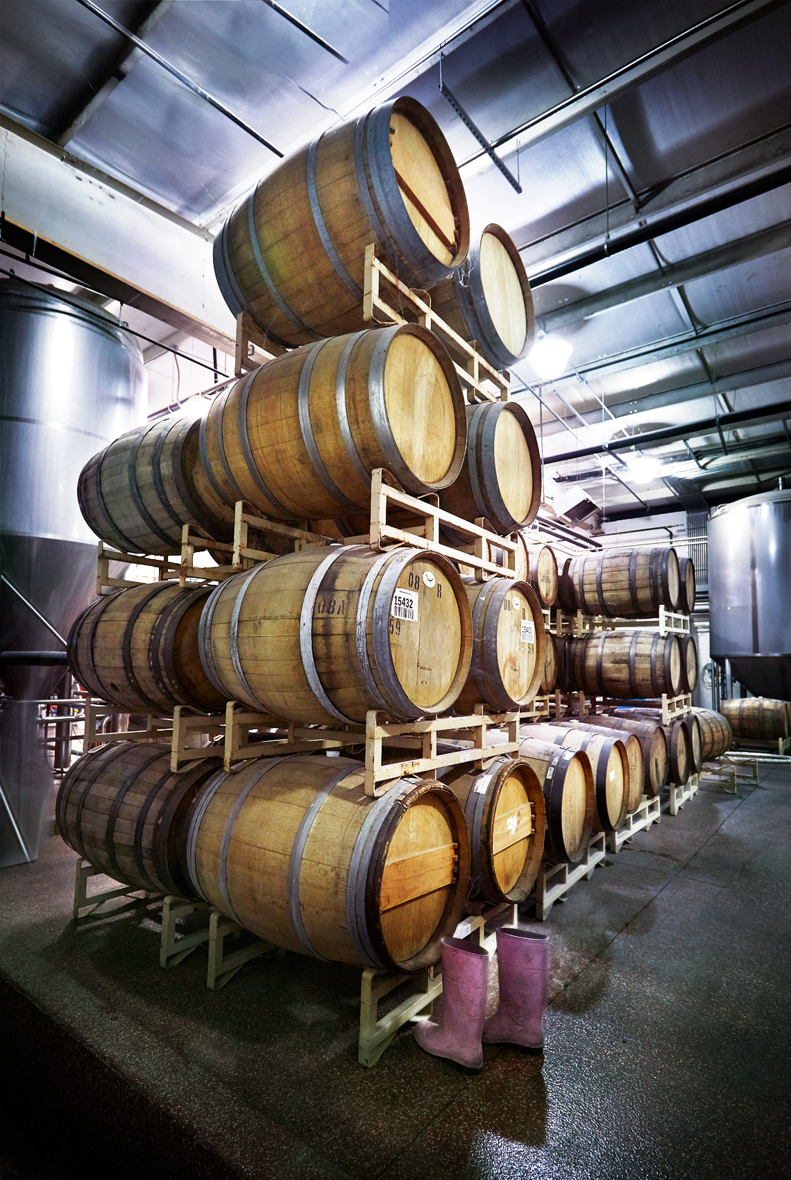 Beer Barrels at Nashville Craft Distillery