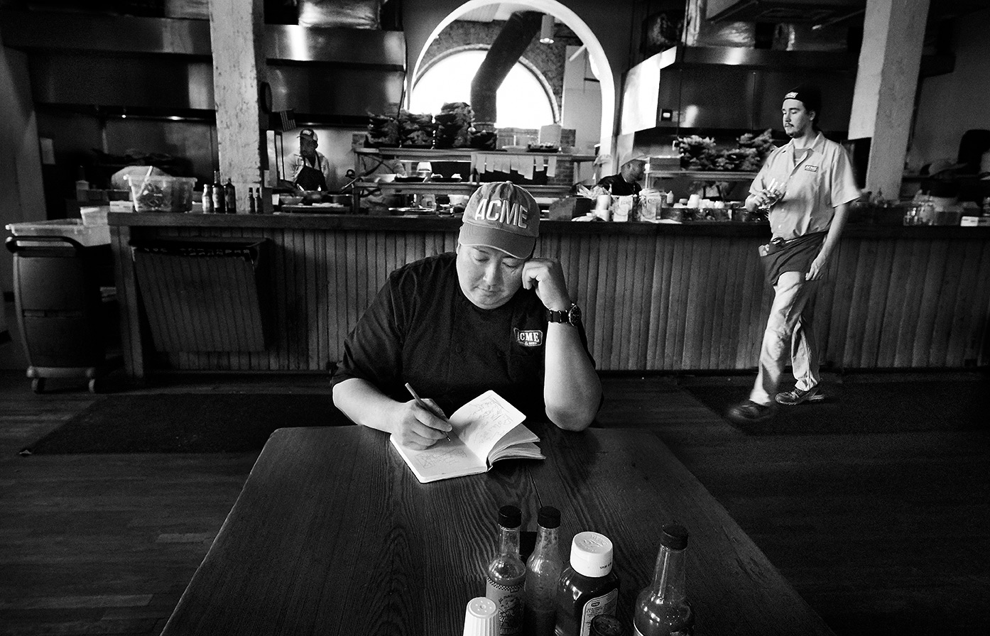 Chef Jeremy  portrait at ACME Feed and Seed Restaurant in Nashville