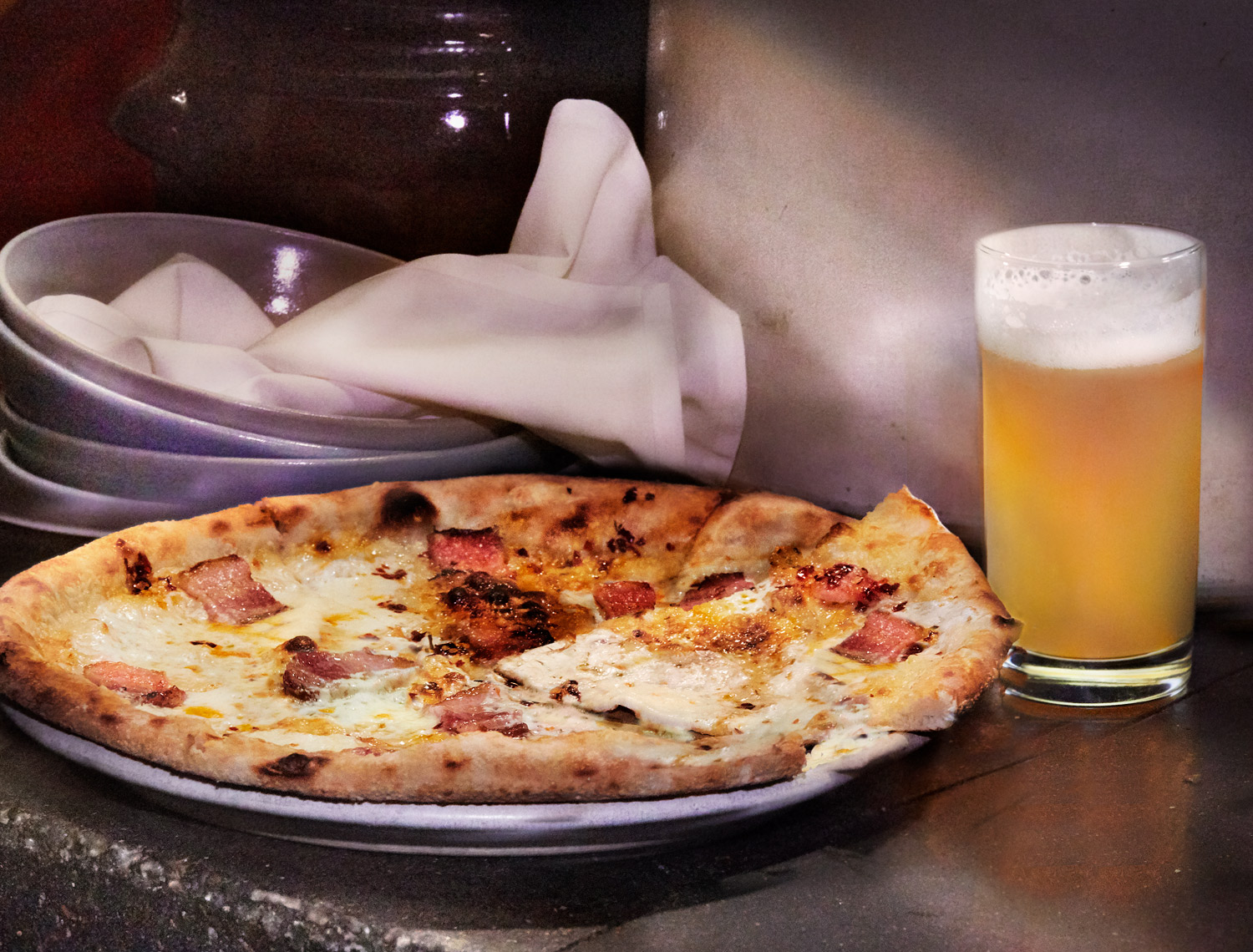 Pizza and Beer at City House Restaurant Nashville Tennessee