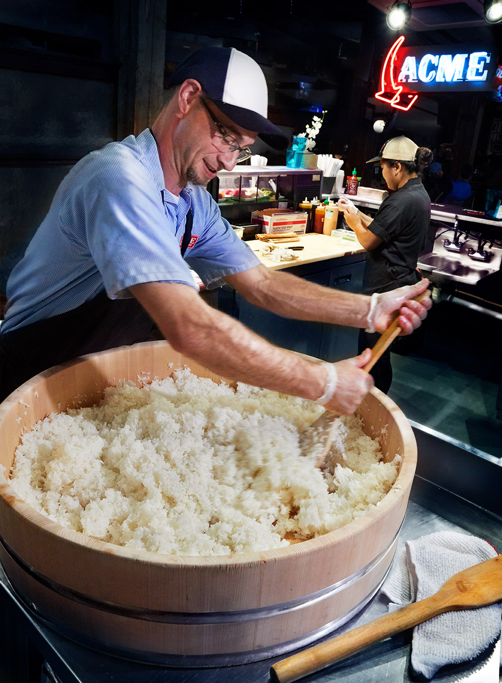Acme Feed and Seed Nashville, mixing sushi rice